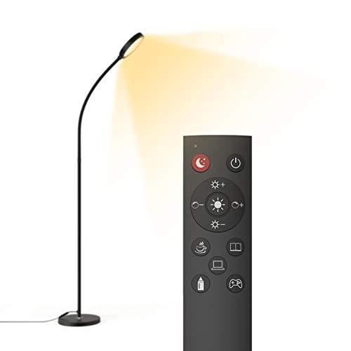 dodocool Lampada da Terra LED,Telecomando e Interruttore Touch, 4 Temperature di Colore e 6 Modalità Scena,3000K-6500 K,Camera da Letto/Studio/Lettura [Classe di efficienza energetica A+]