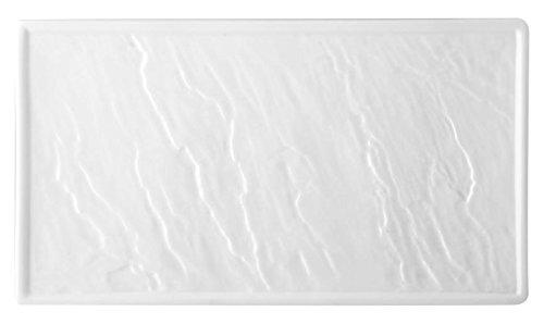 HOTELWARE Pierre Plat rectangulaire, 37 x 21 cm, Porcelaine, Blanc