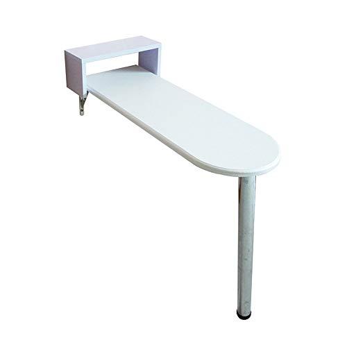 Home&Selected Wandbord, klaptafel, computertafel, kindertafel, bureau, keuken, eettafel, muurtafel, wijn van glas, wit, 5 (afmetingen: 85 x 40 x 80 cm) 80*40*73CM