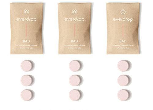 everdrop - Badreiniger - 9 Tabs - Putzmittel Tabs zum Auflösen, entfernt Kalk & Schmutz, kein Mikroplastik, reinigt kraftvoll & umweltschonend