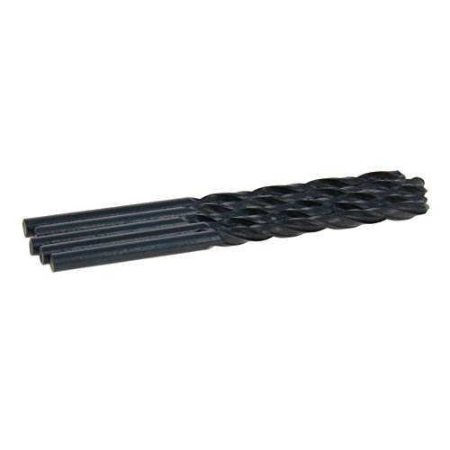 Utoolmart High Speed Steel 4241 Straight Shank Twist Drill 61mm Length Heat Resistant Grinding Process Drill Diameter Longer Drill Bits Silver 20pcs
