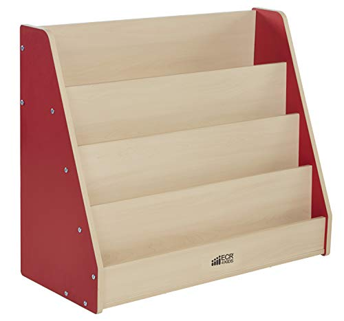 Colorful Essentials Big Book Display Stand - Maple/Red