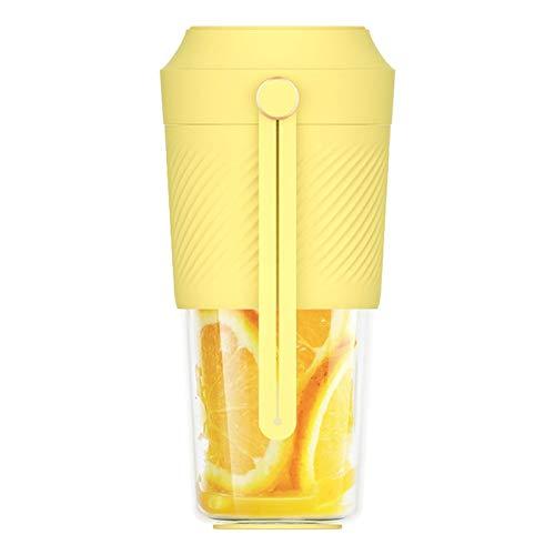 LIANGANAN Licuadora portátil Fast Juicer 400 ml Extractor de taza de fruta Carga Viaje Casero Jugo (Color: Azul) zhuang94 (Color: Amarillo)