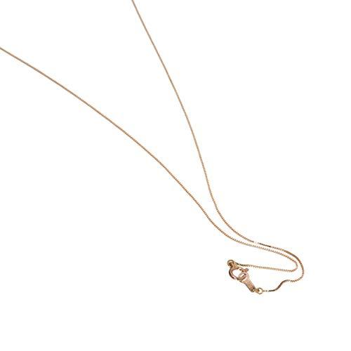 [ルビイ] ピンクゴールド K10 ベネチアン チェーン ネックレス 幅0.5mm 長さ60cm