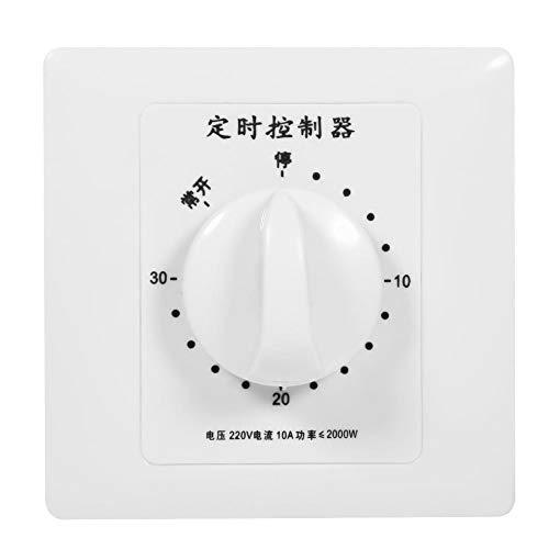 Temporizador, Interruptor de Temporizador AC 220V Interruptor de Temporizador de 30 Minutos/60 Minutos/120 Minutos (30 Min)