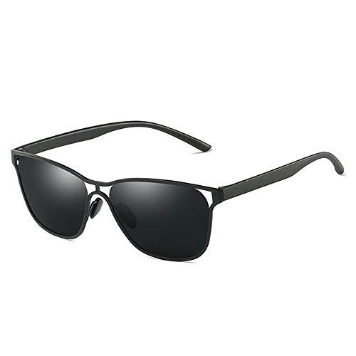 Faus Koco Negro/Gris/Dorado Exquisito Negocio Gafas De Sol Lente Azul Gafas De Sol Hombre Que Conduce El Conductor Gafas Polarizadas (Color : Black)
