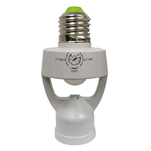 profesional ranking Toma E27 con sensor de movimiento y sensor crepuscular.  Apto para LED.  Máximo ahorro. elección