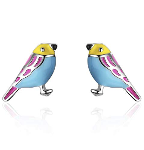 iszie jewellery 925 sterling silver cute enamel bird earrings,Bird earrings