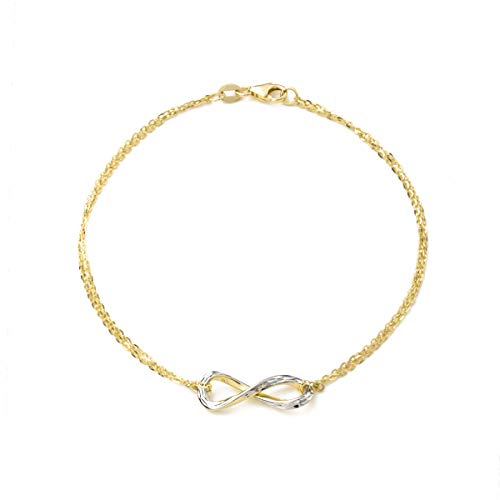 amor Armband für Damen, Gold 375 bicolor, Infinity