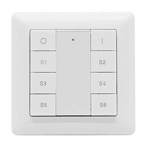 icasa 8 Knopf funktaster | Ein / Aus -Dimmen | 6 Szenen | Passt in 55mm Rahmen | Kompatibel mit Zigbee 3.0 Gateway