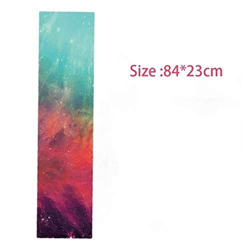 WULE-RYP Cinta de Agarre de la patineta, 23x84cm Scooter Scooter Griptape Pegatinas, Papel de Lija de Tablero de Skate Antideslizante, Tapa de Agarre Longboard (Color : A)