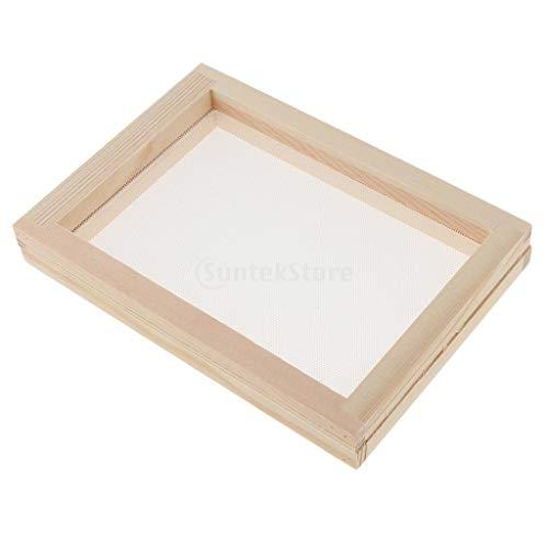 B Baosity Papierbastelform für Papierherstellung, Rahmen für Siebdrucke, Werkzeuge für Papier Handwerk DIY Papier Basteln, As Described, 20x30cm