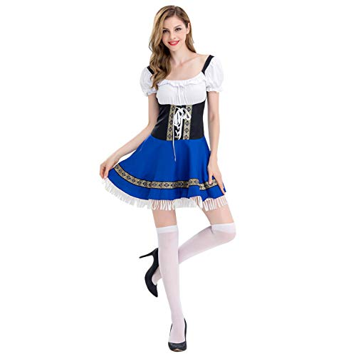 CHIC DIARY - Disfraz de Oktoberfest para mujer, vestido tradicional bávaro para Halloween, carnaval
