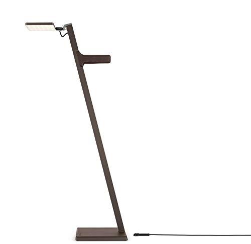Roxxane Leggera CL aluminium batterij leeslamp staande lamp bruin brons   handgemaakte kwaliteit uit Duitse fabriek   vloerlamp modern design dimbaar   lamp