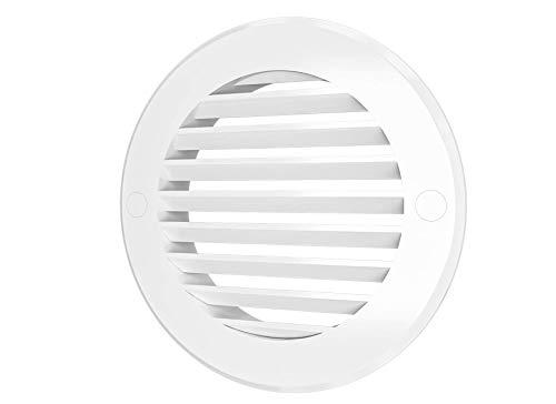 Vent Cover - Round Soffit Vent - Air Vent Louver - Grille Cover - HVAC Ventilation (4'' Inch)