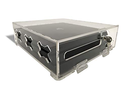 PS4 Clear Acrylic Security Console Case