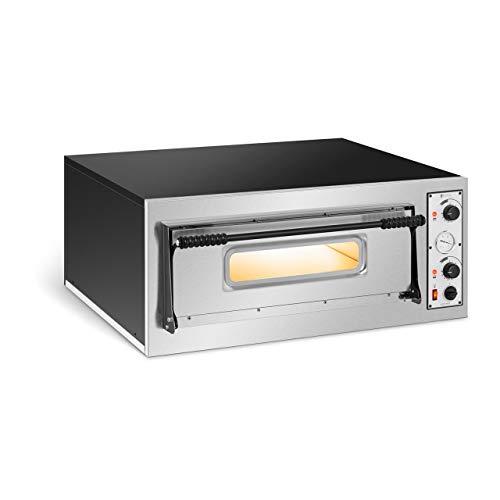 Royal Catering Forno Elettrico Professionale per Pizza Forno per Pizzeria RC-POB4 (1 Camera, 4 x Ø 32 cm)