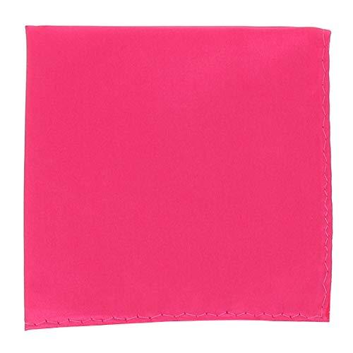 Pochette Costume Rose Fushia - Mouchoir de Poche Homme Rose Vif - Accessoire Carré Poche de Veste - Mariage, Cérémonie