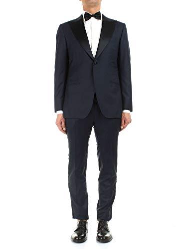 Kiton Luxury Fashion Herren UASM861K07R1504001 Blau Wolle Anzuge | Jahreszeit Outlet