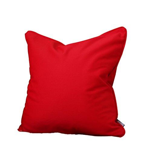 UUS boîtier de coussin Rouge chine Classique du canapé pour le Site de la Mariage canapé de Acajou boîtier de plaquette de grande taille Rouge Couleur Solide fait par le Coton Naturel 55*55 Rouge pur