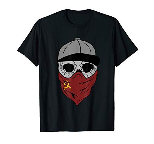 Totenkopf Sozialist Kommunist Halstuch Fahne Kommunismus T-Shirt