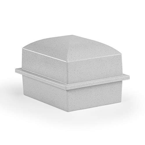 Crowne Vault Compact Urn Vault for Ground Burial | Holds Cremation Ashes for One Adult| Coronet (Granite Grey)