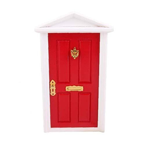 shentaotao 01.12 Puppenhaus Miniatur 4 Verkleidung Außentür Wohnungstür Zimmertür rot 1 Packung