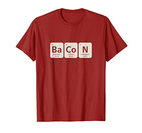 Elements of Bacon | Funny BBQ, Schweinefleisch Grillen T-Shirt