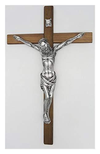 19.6 pulgadas cruz de la pared crucifijo pintado a mano de resina...