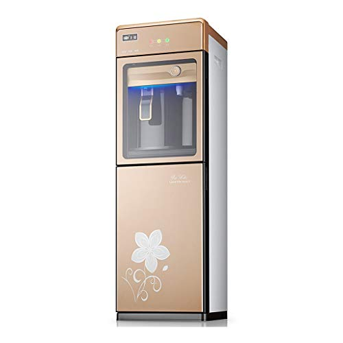Freestanding Water Dispenser Top Load Hot and Cold, Hot & Cold Water Dispensers Quiet 5 Gallon, Stainless Steel Liner and Tempered Glass Door and Night Light