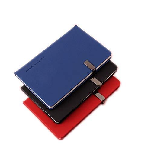 HJHJ Cuadernos 2-4 Cuadernos Paquete Revistas, portátil Simple y Exquisito, Superior Grueso Papel del Diario, Hardcover del Cuaderno por la Escuela de Negocios blocs de Notas (Color : Black+Blue+Red)