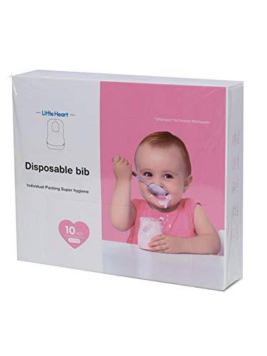 winnerruby 20 Unidades Desechables Baberos Resistente al Agua Saliva Toalla para bebé