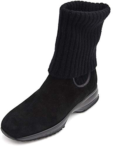 Hogan Interactive Damen Stiefel Stiefeletten Boots Winter Art. HXW00N09250 34 Nero Black Q72