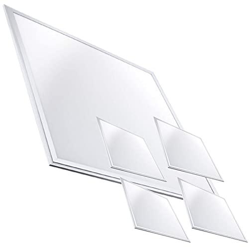Pack 5x Panneau LED Slim 60x60 cm, 40W. Couleur blanc froid (6500K). 3200 lumens. Pilote inclus. A ++