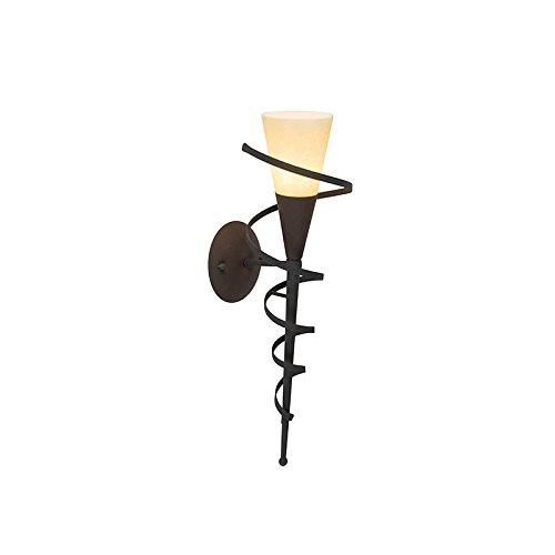 QAZQA Klassisch/Antik/Landhaus/Vintage/Rustikal Ländliche Wandlampe rostbraun mit Sahneglas - Castle/Innenbeleuchtung/Wohnzimmerlampe/Schlafzimmer/Küche/Stahl Andere/Länglich LED gee