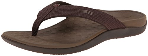 Vionic Unisex Wave Toe Post Sandal, 8 B(M) US Women   7 D(M) US Men, (Chocolate)