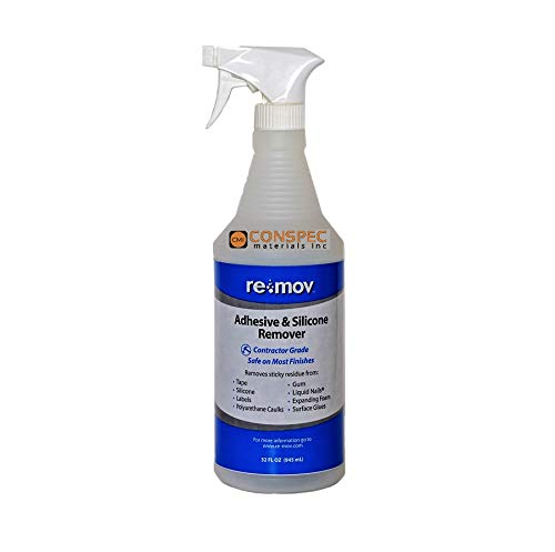 RE-MOV Adhesive & Silicone Remover, Ready-to-Use Non-Solvent Based - Spray 1 qt Bottle - Quart [Price is per Bottle] …