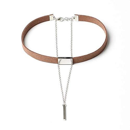 Dfgh Nieuwe Black Velvet Choker Ketting Gouden Ketting Bar chokers Ketting For Women collares (Metal Color : N667)