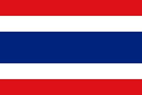 Etaia 5,4x8,4 cm - Auto Aufkleber Fahne/Flagge von Thailand Thai Länder Sticker fürs Motorrad Karosserie