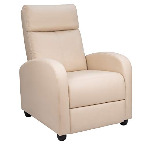 Homall Single Recliner Chair Padded Seat PU Leather Living Room Sofa Recliner Modern Recliner Seat...