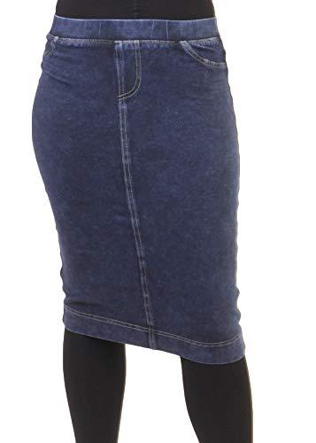 Hard Tail Forever Stretch Denim Pencil Skirt with 2 Back Pockets Style WJ-124 Dark Denim XL