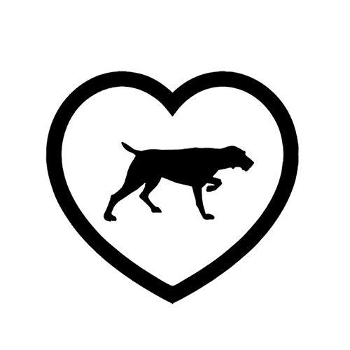SUIFENG Aufkleber 13 x 12CM Weimar Dogs Liebe Auto Aufkleber Abziehbilder H& Haustier Tiere Auto Körper Aufkleber & Abziehbilder
