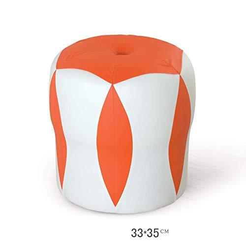F2 Kruk, voetenbankje, werkkruk, douchekruk, opstapkruk, naaien, creatief, leer, salontafel, klein blok toevoegen, kruk, sofa, kruk, duurzaam, kleur: oranje