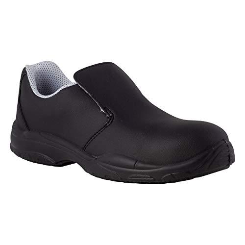 REPOSA Nurse Zapatos de Trabajo, Zapatos de Trabajo Cerrados Tipo mocasín con Puntera, Parte Superior de Microfibra Transpirable, Zapatos Sanitarios con Plantilla anatómica, Suela de PU