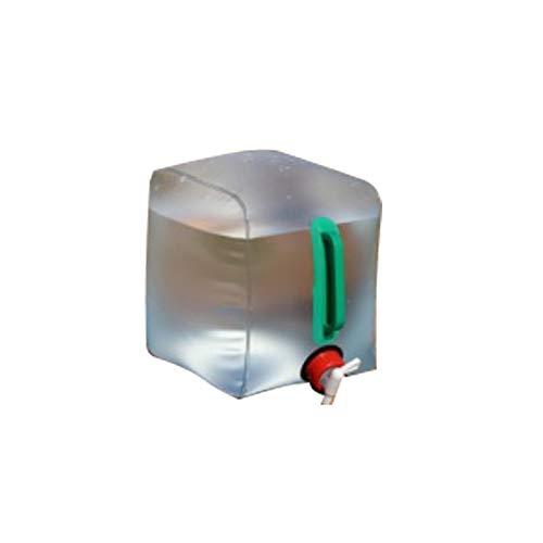 OZtrail Recipiente de Agua Plegable de 10L 20x20x25cm Collapsible 10L Water Carrier para Acampada, Camping, Fiestas, barbacoas. Garrafa Plegable. Almacenamiento de Agua.