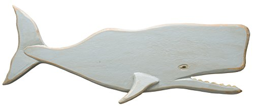 Primitives by Kathy 20588 Shaped Wooden Wall Art, 24.25 x 7.75-Inches, Whale