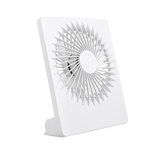 sheng Yuan Ventilador portátil USB de escritorio de 3 velocidades, ajustable, silencioso, ventilador de escritorio, mini ventilador de refrigeración para el hogar y la oficina (color: blanco)