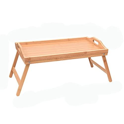 YGWANZD Ordenador portátil Plegable, Escritorio para Ordenador portátil, Mesa de Escritorio Ajustable, sofá Cama, Bandeja de Desayuno de bambú, Mesa de Picnic, Mesa de Estudio