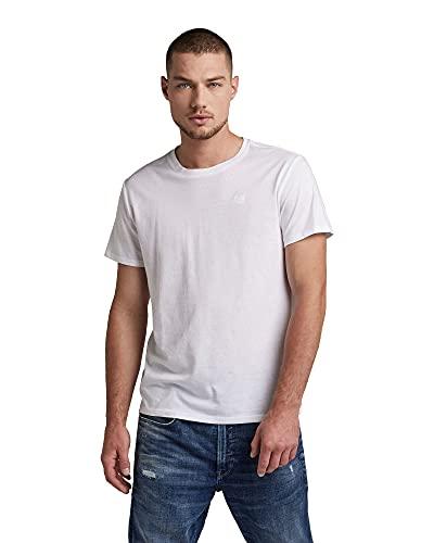 G-Star Raw Men's Base Round Neck 2-Pack T-Shirt, White (White Solid 2757-2020), L