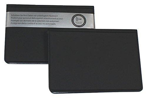 ID Protec 18200 RFID Schutzhülle für ePerso und 2 weitere Karten im Kreditkartenformat, schwarz